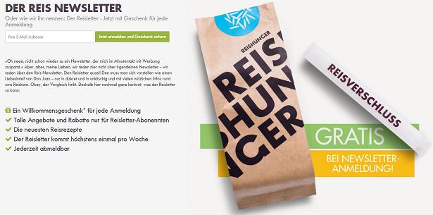 Reishunger Newsletter