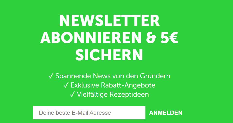 buah newsletter anmeldung website gutschein