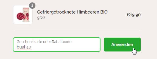 buah Rabattcode einlösen