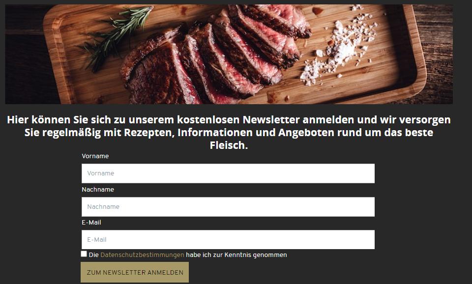 don carne webshop gutschein anmeldung newsletter