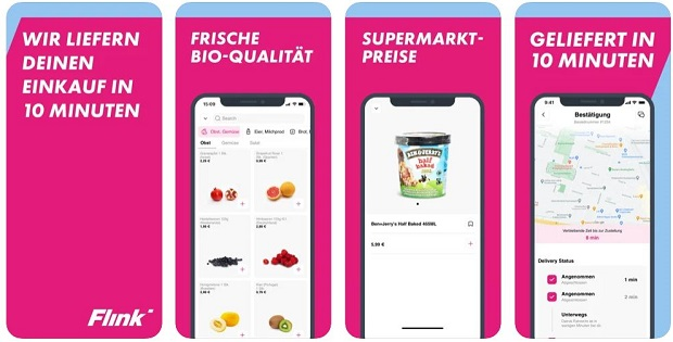 App Ansicht Flink Lieferservice