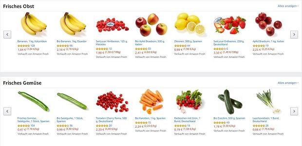 Amazon Fresh Frische Lebensmittel