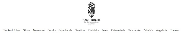 Produktkategorien im 1001-Frucht Shop