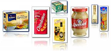 Lebensmittel große Marken Beispiele