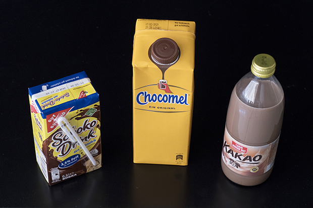 Beispiel zu verschiedenen Getränkeverpackungen