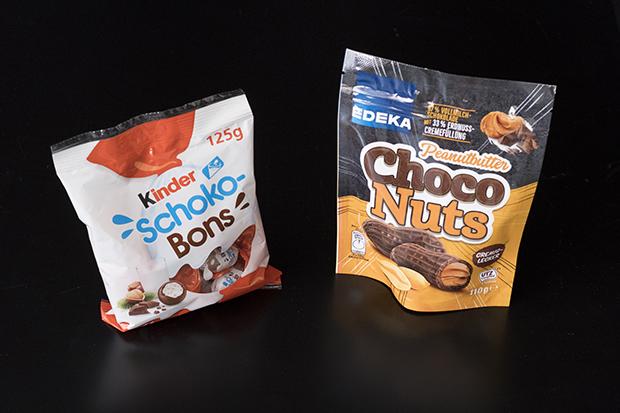 Beispiel Verpackungen mit extra verpackten Inhalt