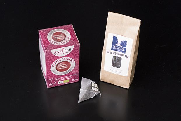 verschiedene Beispiele von Teeverpackungen