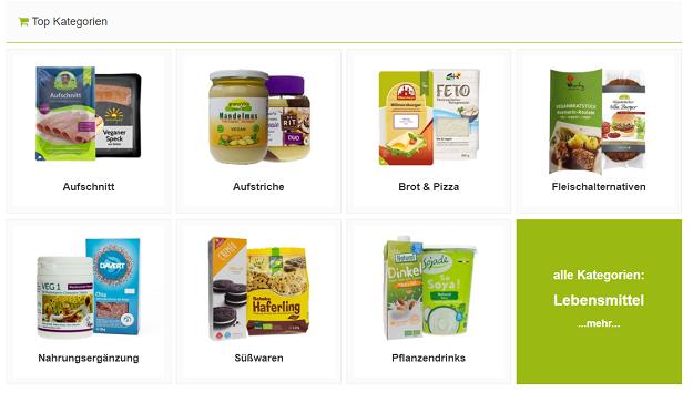 sortiment veganer online shop