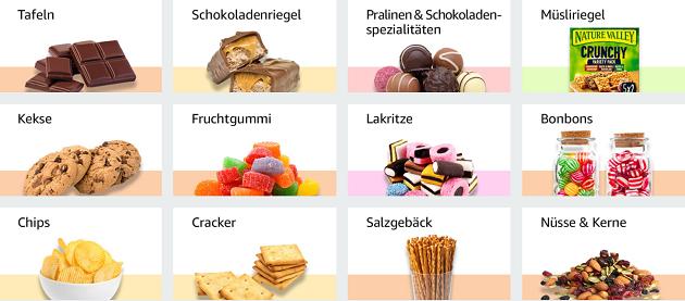 Süßigkeiten bei Amazon