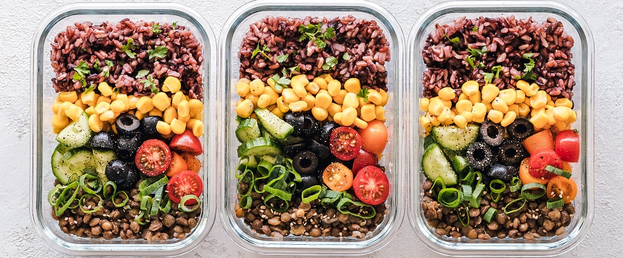 vegane Lebensmittelboxen