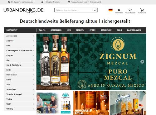 urban drinks online shop
